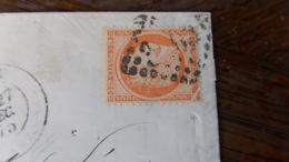27.04.18_LAC De Reims,sur N°38,variétés Angle Haut Droit Fendu ,case 8 ,et Tache Derriere La Tete,a Voir!! .. - Postmark Collection (Covers)