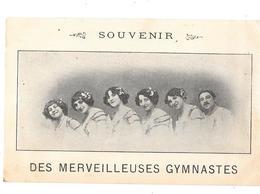 Artistes De Cabaret Ou Cirque Années 1900 -  SOUVENIR DES MERVEILLEUSES GYMNASTES - (5 FEMMES 1 HOMME) - Circo