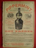 PUB 1894 - Pippermint Par Get F à Revel 31; Photographie A. Lumière Monplaisir-Lyon; Céramique Bossot Ciry Le Noble 71 - Advertising