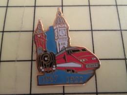 Pin1110 Pin's Pins / Beau Et Rare : TGV : 1957 1992 LOCOMOTIVE A VAPEUR - TGV