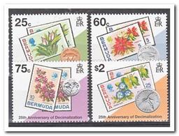 Bermuda 1995, Postfris MNH, Flowers, Stamp On Stamp - Bermuda