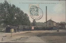 CPA Châlons Sur Marne Le Chemin De Fer De Banlieue CLC C.L.C. Couleur Ou Colorisé - Châlons-sur-Marne
