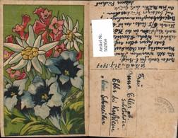 562954,Künstler Ak Edelweiß Enzian Alpenrose Blume Blumen Pub F. E. Brandt - Botanik