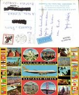563238,Luftfahrt Aviatik Flugzeug Flieger Gastager Reisen Inzell Reklame AK - Werbepostkarten