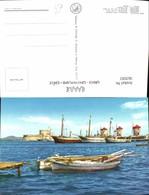 563592,Rhodos Die Mühlen I Mulini Greece Segelschiff Segelboot - Griechenland