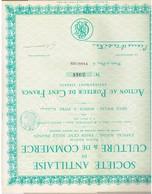Ancienne Action - Société Antillaise De Culture & De Commerce -  Titre De 1928 - - Agriculture