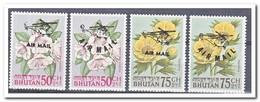 Bhutan 1967, Postfris MNH, Flowers, Overprint - Bhutan