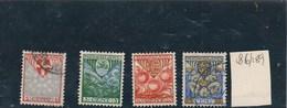 PAYS BAS -  Yvert N° 186 à 189 - 1891-1948 (Wilhelmine)