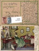 564591,tolle AK Märchen Moderne Kunst Amor Frau Biedermeier - Märchen, Sagen & Legenden