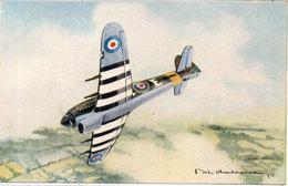 TYPHOON  - Constructeur : Hawker    - Moteur Napier Sabre   - Illustration De Philippe CHARBONNEAUX  (105571) - 1939-1945: 2ème Guerre