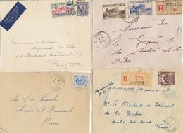 TUNISIE ENSEMBLE DE 31 LETTRES CP - Avion - Recommandé - Bureaux - Tunisie (1888-1955)