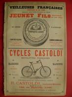 PUB 1894 - Vélocipède Castoldi Lyon; Vernis L.J. Duverdy Lyon Guillotière; Ch De Queylar St Marcel; Veilleuse De La Gare - Advertising