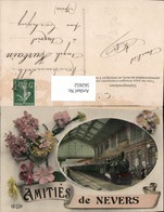 562652,Eisenbahn Lokomotive Zug Amities De Nevers Dampflok Bahnhof Blumen - Eisenbahnen