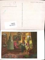 563061,Künstler Ak K. M. Schuster Sonniges Heim Kachelofen Ofen Heizung - Ansichtskarten