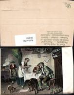 563063,Künstler Ak Adolph Eberle Ein Leckerer Bissen Herd Herdstelle Ofen Heizung - Ansichtskarten