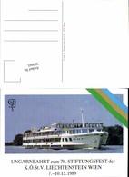 563665,Studentica Studentika Dampfer Ungarnfahrt Liechtenstein Wien 1989 - Schulen