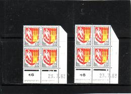 N° 1353A - 0,12F Blason D'AGEN - Paire  A+B - 1° Tirage Du 9.7.63 Au 24.7.63 - 23.7.1963 - - 1960-1969