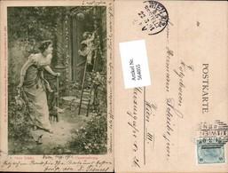 564055,tolle Künstler AK Jugendstil Hans Zatzka Amor Frau Pub Ackermann 966 - Zatzka