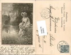 564056,tolle Künstler AK Jugendstil Hans Zatzka Amor Frau Pub Ackermann 1210 - Zatzka