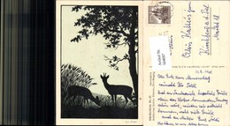 564697,Künstler AK Josefine Allmayer Silhouette Scherenschnitt 61 - Scherenschnitt - Silhouette