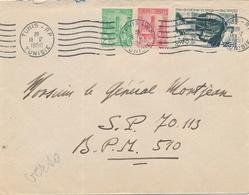 1950 TUNISIE Lettre Obl TUNIS 1950 > BPM 510 Allemagne - Cachet POSTES AUX ARMÉES AU VERSO - Briefe U. Dokumente