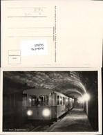 562665,Eisenbahn Lokomotive Zug Bayer. Zugspitzbahn Tunnel Beleuchtet Ehrwald - Eisenbahnen