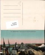 562674,Eisenbahn Lokomotive Zug Cherbourg Panorama De La Gare Transatlantique Hafen D - Eisenbahnen