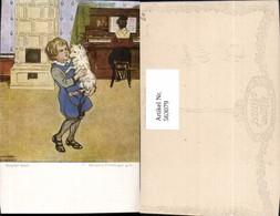 563079,Marianne Frimberger Sepperl Tanzt Kachelofen Ofen Heizung Kind Hund Klavier Pu - Ansichtskarten