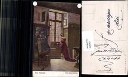 563083,Künstler Ak Rob. Panitzsch Das Burgfräulein Kachelofen Ofen Heizung - Ansichtskarten