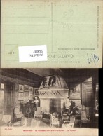 563087,Montresor Le Chateau Le Fumoir Kamin Ofen Heizung - Ansichtskarten