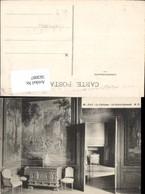563097,Pau Le Chateau Le Salon Flamand Sessel Wandtapette Kamin Interieur Einrichtung - Ansichtskarten