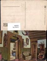 563099,Truhe Lampenschirm Stuhl Interieur Einrichtung - Ansichtskarten