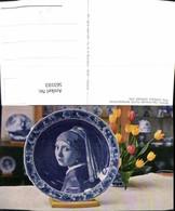 563103,Royal Delftware Plate The Famous Vermeer Girl Porzellan Teller Interieur Einri - Ansichtskarten