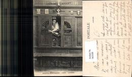 563109,Haute Bretagne Lit Clos Frau Bett In Schrank Interieur Einrichtung - Ansichtskarten