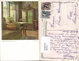 563113,Künstler Ak Martha Schrottenbach Interieur Schreibtisch Schrank Einrichtung - Ansichtskarten