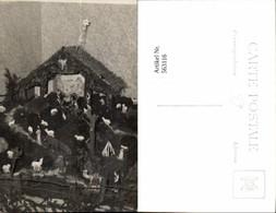 563116,Foto Ak Krippe Weihnachten Interieur Einrichtung - Ansichtskarten