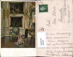 563118,Künstler Ak Kerzenleuchter Vase Interieur Einrichtung - Ansichtskarten