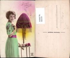 563119,Frau Lampe Tischlampe Tischleuchte Interieur Einrichtung Pub Dix Paris 2061 - Ansichtskarten
