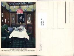 563121,Hamburg Weinrestaurant Schümann Holländische Diele Interieur Einrichtung - Ansichtskarten