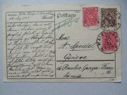 GERMANY - 1922 December Inflation Postcard Waiblingen To Geneva Switzerland - Germania