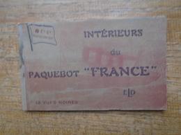 "Bloc De 12 Cartes Du Paquebot "" France "" - Paquebots"