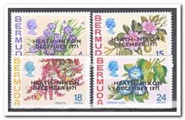 Bermuda 1971, Postfris MNH, Flowers, Overprint - Bermuda