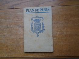 Assez Rare Ancien Plans De Paris Avec La Liste Des Rues - Europe
