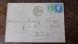 27.04.18_LAC De St-Quentin Avec N°53 ET N°60 A Voir!! ..TEXTE , Pour La Belgique - Postmark Collection (Covers)