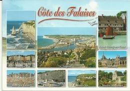 76 CÔTE DES FALAISES Multivues Le Treport Etretat Dieppe Veules Les Roses Fecamp Criel Sur Mer Saint Valery E Multi Vues - Autres Communes