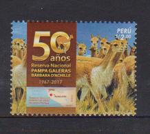 PERU, 2017, MNH, LLAMAS, NATIONAL RESERVE,1v - Stamps