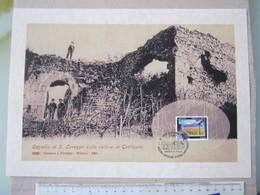 G1 - GATTINARA VERCELLI BIG CARD 2013 STAMPA 29 X 21 CM. 2013 ANNULLO CASTELLO CASTLE SAN LORENZO RUDERI FOTO 1903 - Archeologia
