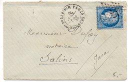 Etoile De Paris N° 35 Sur Lettre De 1872 Avec CaD MINISTERE DES FINANCES - 1849-1876: Periodo Classico