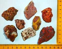 Collection Minéraux : Mineral Minerai BAUXITE Lot 8 Pierres Dont 2 Rares Bauxites Origine France Minéralogie Mineralogy - Minerals