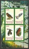 CONGO 2011 BIRDS BATS OWLS M/SHEET MNH - Congo - Brazzaville